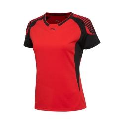 Футболка женская для бадминтона Li-NING AAYL036-2