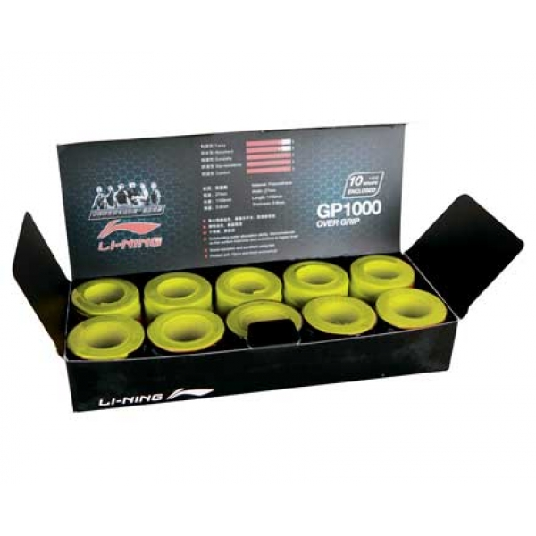 Намотка на ракетку тонкая (уп 10 шт) салатов LI-NING AXSF002-6