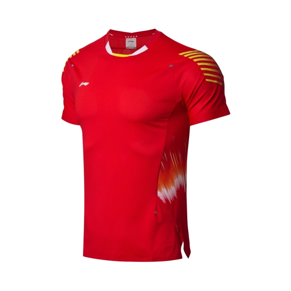 Футболка мужская для бадминтона нац. сборной (красн) Li-NING AAYN005-1