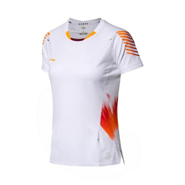 Футболка женская для бадминтона нац. сборной (бел) Li-NING AAYN006-5