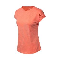 Футболка женская для бадминтона (розовая) Li-NING AAYN114-3