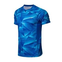 Футболка мужская для бадминтона (синяя) Li-NING AAYN259-4