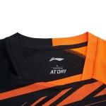 Футболка мужская для бадминтона соревновательная  (оранж/черн) Li-NING AAYP327-1