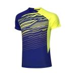 Футболка мужская для бадминтона соревновательная  (син/салат) Li-NING AAYP327-2