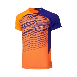 Футболка мужская для бадминтона соревновательная  (оранж/син) Li-NING AAYP327-4