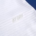 Футболка мужская для бадминтона соревновательная  (белая/синяя) Li-NING AAYQ079-1