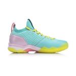 Кроссовки женские для бадминтона Sonic Boom 2.0 (голубые с розовым) Li-NING AYZP002-2