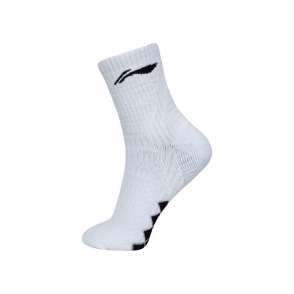 Носки мужские высокие (белые) Li-NING AWSL203-2