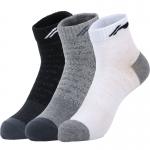Носки мужские средние 3 пары (черн, сер, бел) Li-NING AWSM203-1