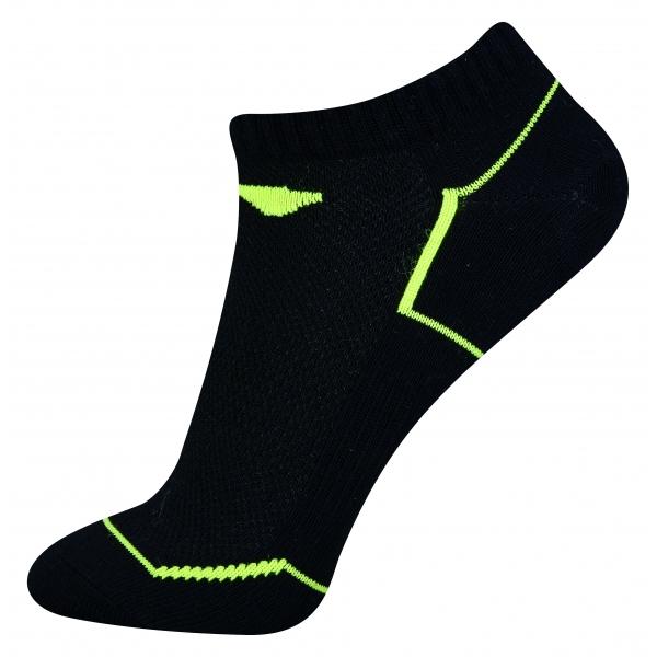 Носки мужские низкие (черные/салатов) Li-NING AWSN233-2