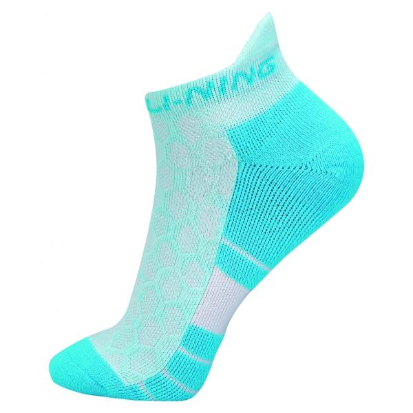 Носки женские низкие (бел/фиолет) LI-NING AWSN298-3