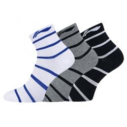 Носки мужские средние 3 пары (черн, сер, бел) Li-NING AWSP197-1