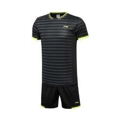 Комплект мужской шорты с футболкой (черный) Li-NING AATL039-5