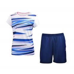 Комплект женский шорты с футболкой (белый синий) Li-NING AATM006-6