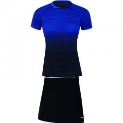 Комплект женский юбка с футболкой (синий черный) Li-NING AATN018-2